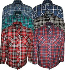 Men's Big Sizes Lined Padded Quilted Full Sleeve Lumberjack Work Shirts Jackets
