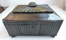 ANTIQUE ANGLO INDIAN HORN & SANDALWOOD SEWING KIT