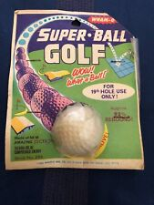 Wham-O Super Golf Ball - in Original 1966 Packaging - VERY RARE Silver Age Toy