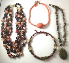 LOT of vintage necklaces modern costume jewelry
