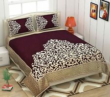 """King Size bedsheet 100"""" X 90"""" with 2 Pillow Cover 500Tc"""