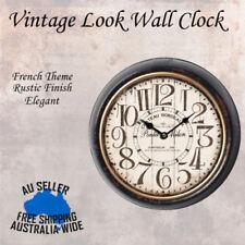 Metal Round Wall Clock Hotel Home Beach Vintage Rustic Elegant French Theme 25cm