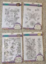 Lot Of 4 New Art Therapy Adult Colorng Stickers BN Floral Butterfly Inspirtation