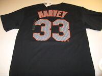 Matt Harvey New York Mets #33 Black MLB Baseball Jersey T-Shirt New! NWT LARGE