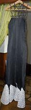 Robe longue soirée sirène - vintage + capeline - Fait main