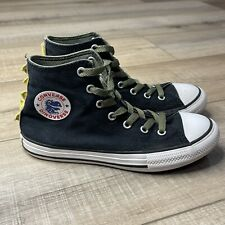 CONVERSE DINOVERSE HIGH TOP Casual Shoes JUNIOR SIZE 2 BLACK Dino Spikes