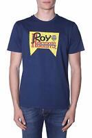 T-shirt jersey M/M uomo ROY ROGER'S mod Vintage RRU506C7480214 P/E19 col.Blu