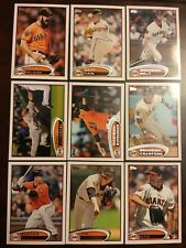 2012 Topps SAN FRANCISCO GIANTS Complete Team Set Series 1 & 2 WS CHAMPS 18 Wow