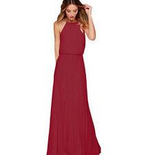 Damen Abendkleid Brautjungfern Cocktailkleider Ballkleid Formal Party Lang  Kleid a642a5eb44