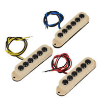 Electric Guitar Single Coil Pickup Set Invader Type Cream For Strat Replacement