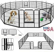 New listing Heavy Duty Foldable Metal Indoor/Outdoor Exercise Pet Fence Barrier Playpen we