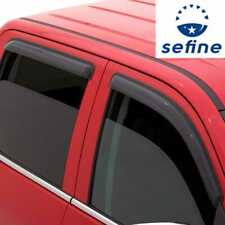 Dark Smoke Replacement for Dodge Dakota 2nd Gen Quad Cab 4pcs In-Channel Window Vent Visor Deflector Rain Guard