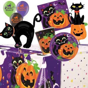 Black Cat Halloween Party Supplies Tableware, Decorations, Balloons, Pinata
