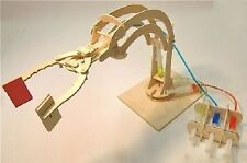 Hydraulic Robotic Arm: Pathfinders Wood Construction Model Kit Age 8 plus