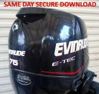 2012 Evinrude ETEC 40 50 60 65 75 90 Outboard Service Manual - FAST ACCESS