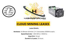 1 day 1,650 MH/s Litecoin Mining Rental ANTMINER L3+ ASIC Hashing Lease LTC DOGE