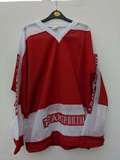 Junior Ice Hockey Jersey, Red & White, By Team Sportia, Would fit Adult Large 🏒