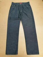 BB784 MENS BEN SHERMAN DARK BLUE STRAIGHT LEG DENIM JEANS W32 L32