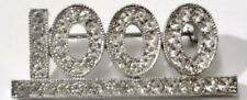 Bijou Vintage broche rétro cristal diamant chiffre 1000 couleur argent *2146