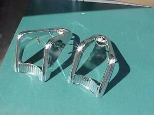 1957 Mercury  Re-chromed Pair Tail Light Bezels Turnpike Cruiser Left & Right