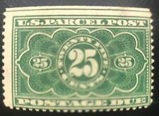 1913 25 cent Parcel Post Postage Due US Stamp #JQ5 Regummed