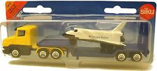 SiKu Low Loader with Space Shuttle Diecast w/ Plastic parts # 1612. Colours Vary