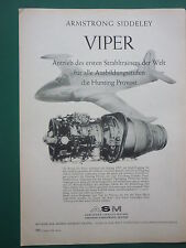 8/1958 PUB ARMSTRONG SIDDELEY VIPER ENGINE HUNTING PROVOST ORIGINAL GERMAN AD