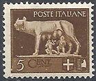 1929-42 REGNO IMPERIALE 5 CENT MNH ** - RR12013