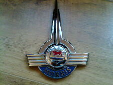 MORRIS MINOR BRAND NEW  BONNET BADGE.  RARE FIND (FREE UK POST)