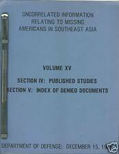 POW Information, Americans in Southeast Asia, Vol XV
