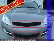GTG 2007 - 2009 Saturn Sky 2PC Gloss Black Replacement Combo Billet Grille Kit