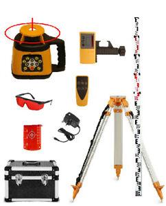 Fukuda FRE 301 Rotary Laser Set c/w Receiver, Remote Control, Tripod & Staff