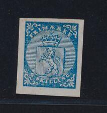 *Replica* of 1855 Norway 4 skilling blue, Sc 1
