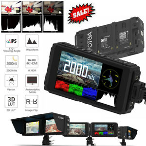 FOTGA C50 5in IPS Touch Screen Camera Video Monitor 4K HDMI 3G SDI Input/Output