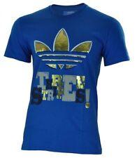 Camisetas de hombre azul adidas 100% algodón