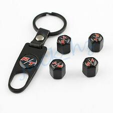 Vehicle Accessories Valve Caps Tire Tyre Stem Key Chain For Dodge RT R/T Style