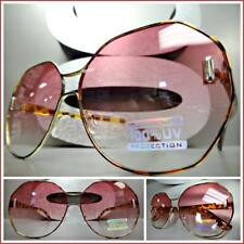 78ff3ca8f4a6 Oversized Funky Retro Style Unique SUN GLASSES Tortoise Frame Pink   Clear  Lens