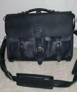 EUC Saddleback Leather Co. Thin Front Pocket Briefcase Black
