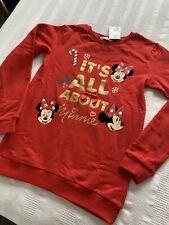 H&M Disney Minnie Mouse Christmas Jumper Age 12-14