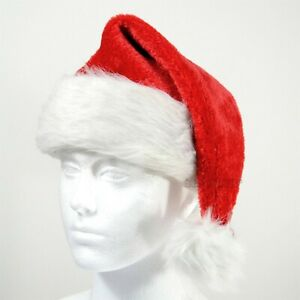 CHRISTMAS CHILD SANTA HAT DELUXE LUXURY FANCY DRESS STOCKING FILLER NOVELTY