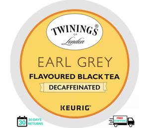 Twinings Earl Grey DECAF Keurig Tea K-cups YOU PICK THE SIZE