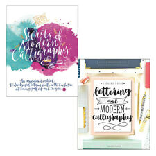 Lettering and Modern Calligraphy & Secrets 2 books collection set New Paperback