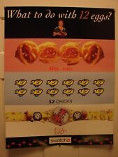 Vintage Swatch Watch EGGS Dream Watch Poster Print Ad Chicks Clock Pasta