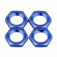 4x Dark Blue 17mm Wheel Hex Hub Nut Cover for RC 1:8 Car Upgrade Part