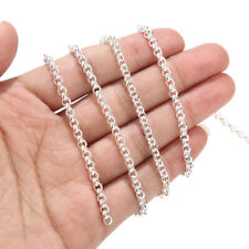 White Plated 4mm Stainless Steel Round Oval Rolo Link Chains for DIY Jewelry 2M
