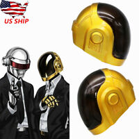 Daft Punk Rock Cosplay Helmet Resin Mask PVC Glass Costume Props Party Dress Up