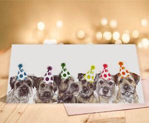 Single Luxury Long Border Terrier Birthday Card Gift/Present Greeting Dog