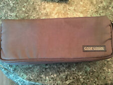 VTG Case Logic Cassette Tape Case, storage, holds 15 tapes, tray, grey, zippered