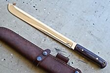 "CFK iPak USA Custom Handmade D2 Tool Steel 15"" Camp-Machete Hunter Camping Knife"