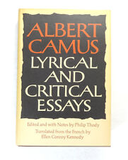 Lyrical & Critical Essays by Albert Camus; 1st American Edition Hardcover 1968